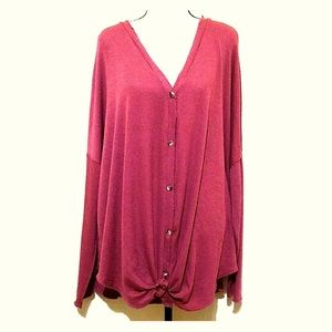 NWT Perch by Blu Pepper Knotted Top Size 1XL